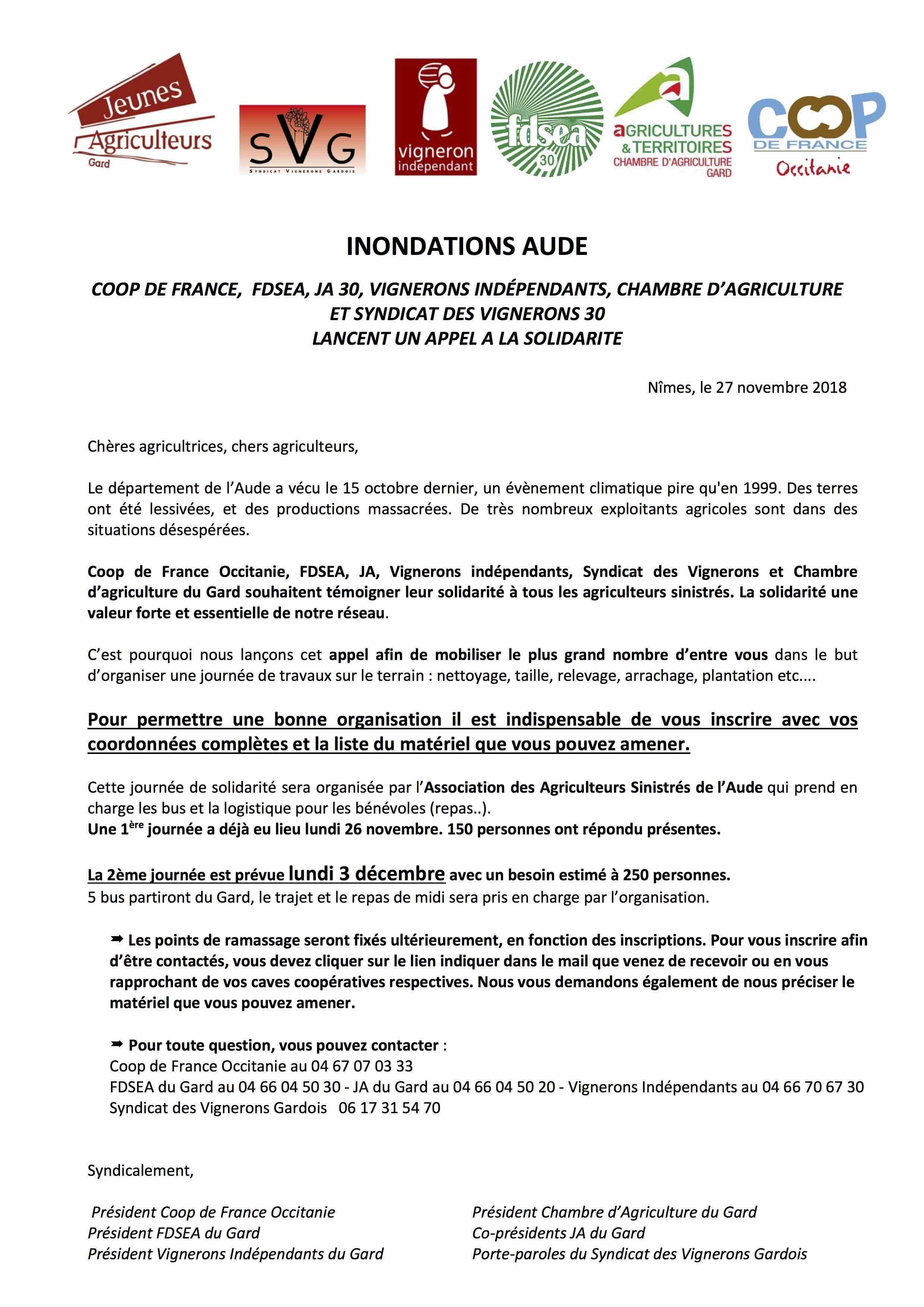 appel a la solidarité_30 Aude