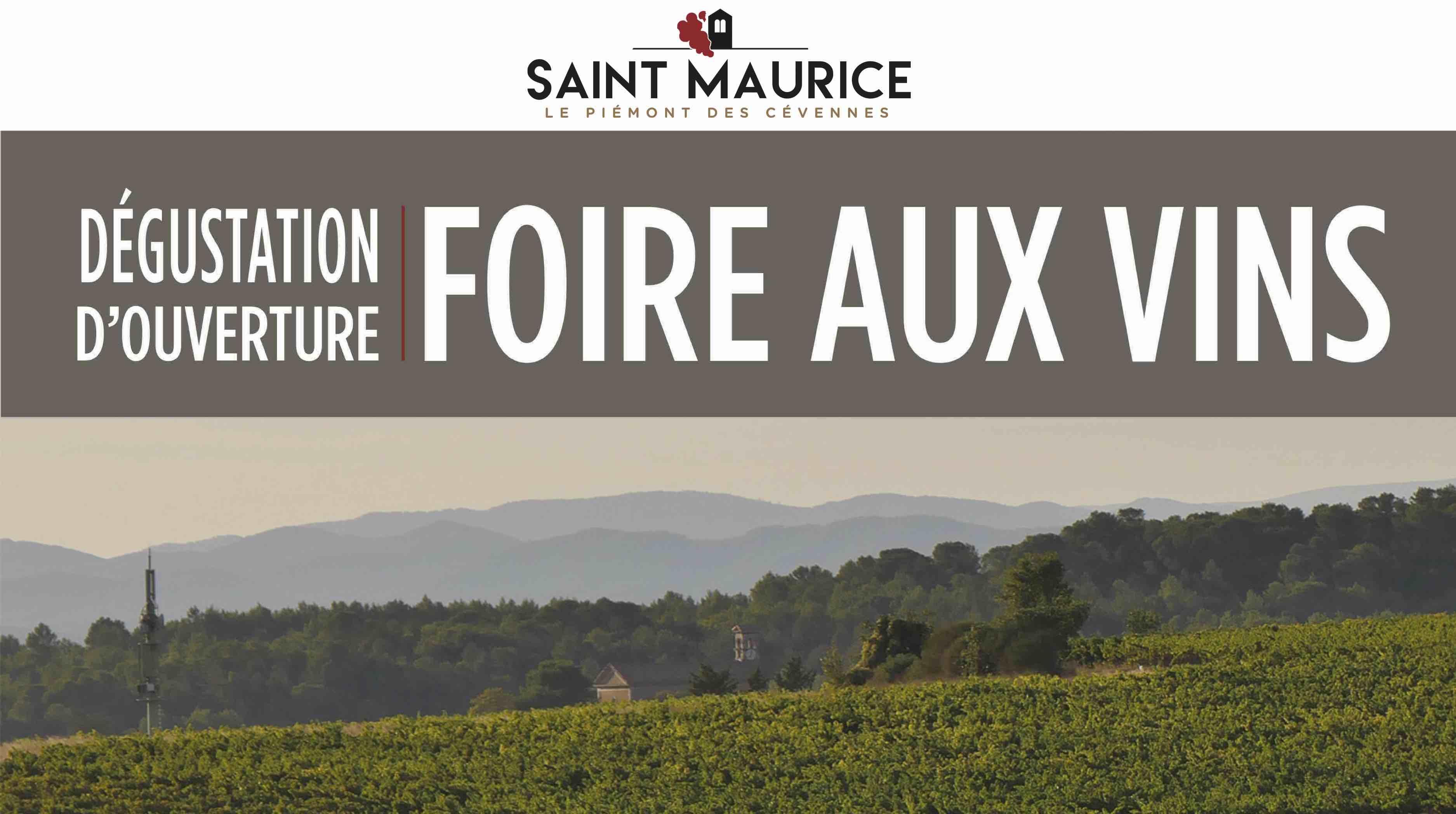 DÉGUSTATION D'OUVERTURE DE NOTRE FOIRE AUX VINS !